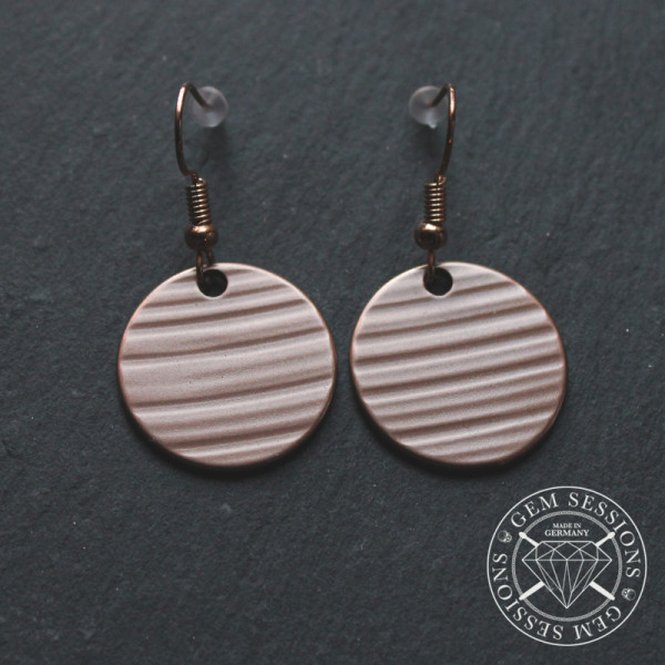"""Earrings """"SOL"""" made from Cymbals (Upcycling 