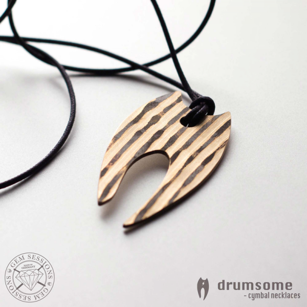 "Necklace ""ANGELA"" made of drum cymbals (Drumsome 
