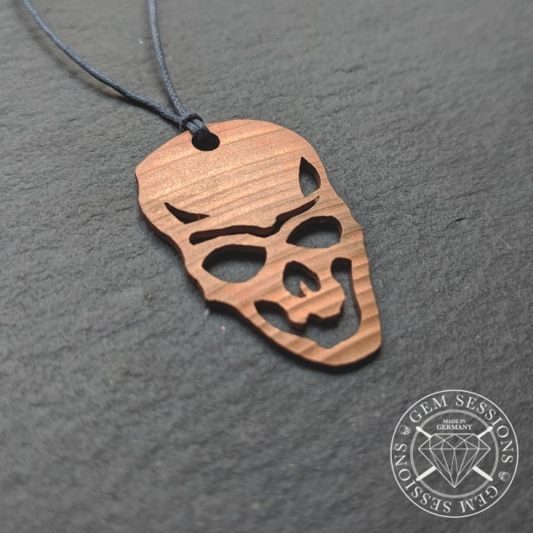 """Necklace """"SKELETON"""" made of drum cymbals (Skull 