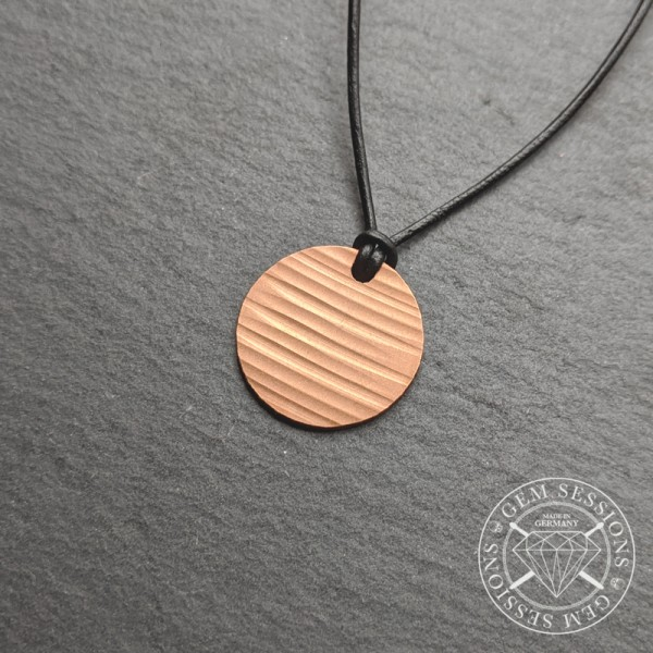 """Necklace """"CIRCLE"""" made of drum cymbals (Upcycling 