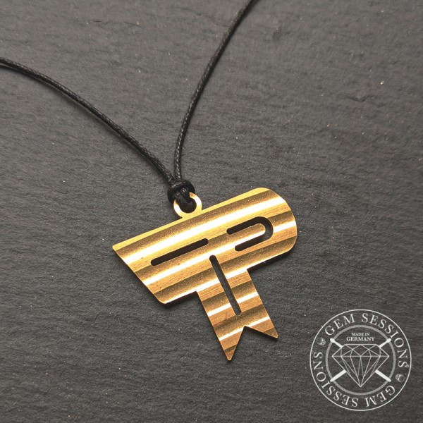 "Necklace ""TOMMY PORTIMO"" made out of Cymbals (Signature 