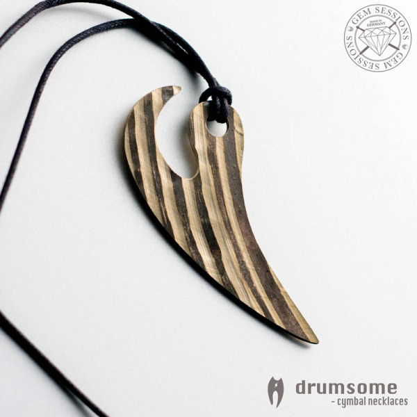 "Necklace ""DANTO"" made of drum cymbals"