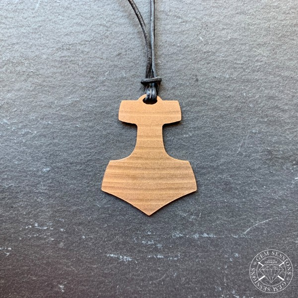 """Necklace """"THOR"""" made of drum cymbals (Viking 