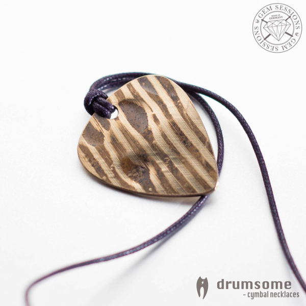 "Necklace ""PLECTRO"" made of drum cymbals (Drumsome 