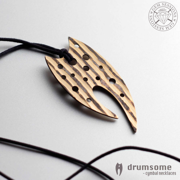 "Necklace ""EMMENTO"" made of drum cymbals (Drumsome 
