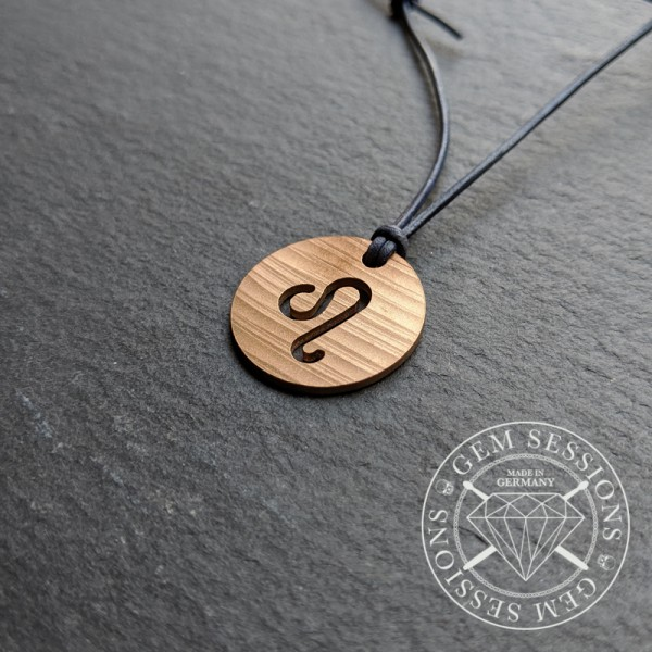 "Necklace ""LEO"" made of drum cymbals (Zodiac 
