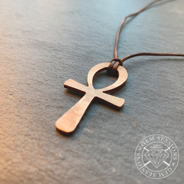 "Necklace ""ANKH"" made of drum cymbals (Pagan 