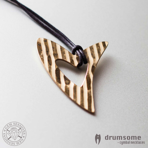 "Necklace ""HERZO"" made of drum cymbals (Drumsome 