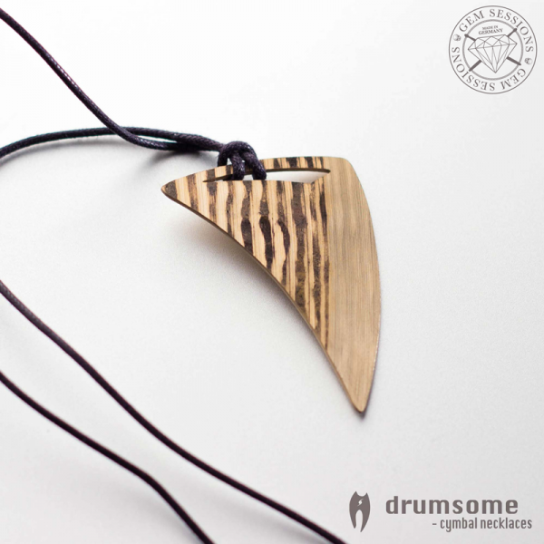 """Necklace """"SLEMO"""" made of drum cymbals (Drumsome 