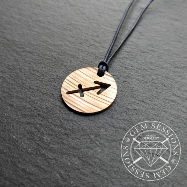 "Necklace ""SAGITTARIUS"" made of drum cymbals (Zodiac 