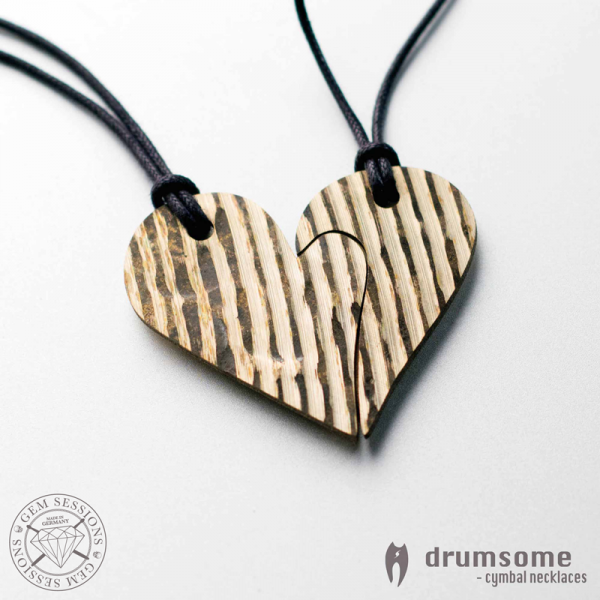 "Necklace ""HEARTHO"" made of drum cymbals (Drumsome 