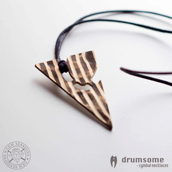 """Necklace """"TRIMO"""" made of drum cymbals (Drumsome 