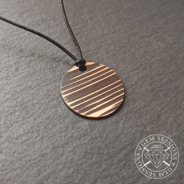 "Necklace ""CIRCLE (Burnt Edition)"" made of drum cymbals (Upcycling 