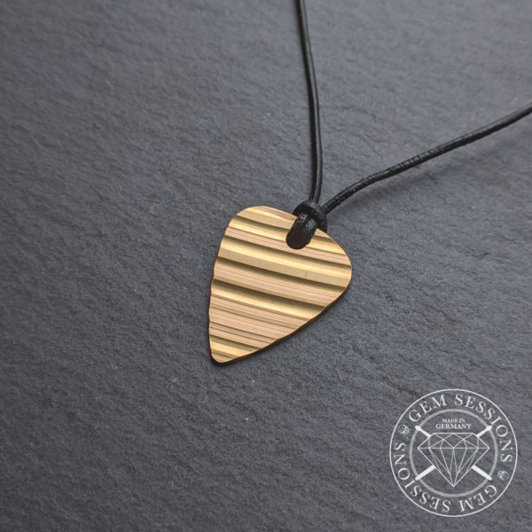 """Necklace """"PLEK (SHINY EDITION)"""" made of drum cymbals (Upcycling 