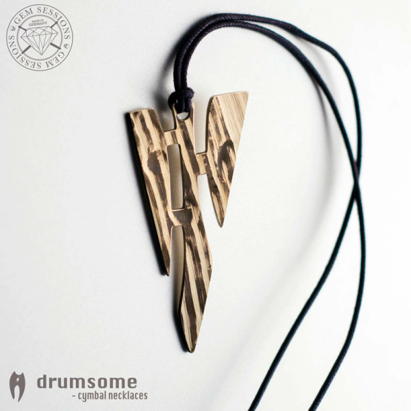 "Necklace ""MOMINO"" made of drum cymbals (Drumsome 