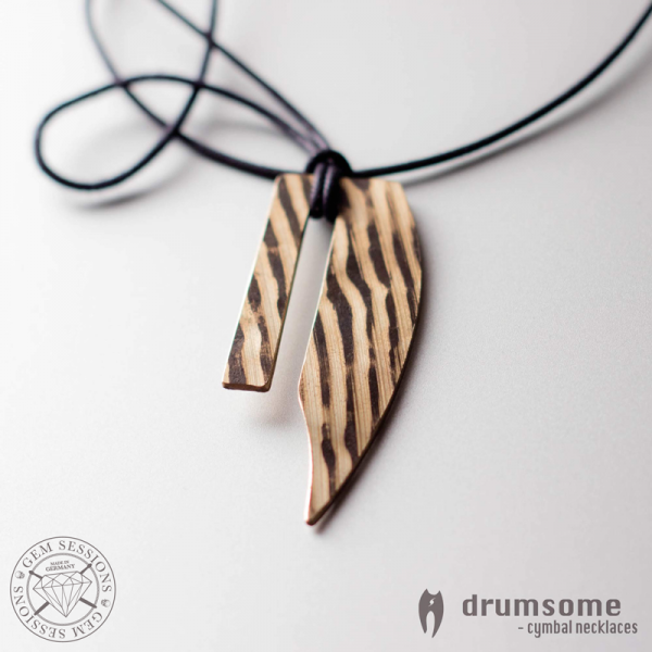 "Necklace ""GALO"" made of drum cymbals (Drumsome 