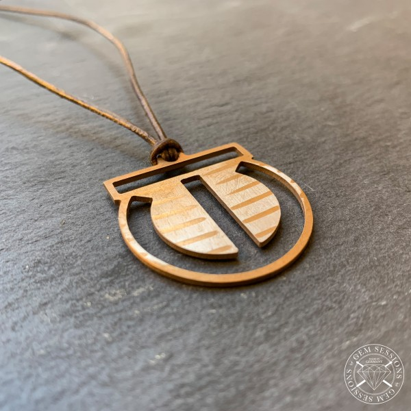 "Necklace ""TRAIL WAY CIRCUS"" made of drum cymbals (Signature 