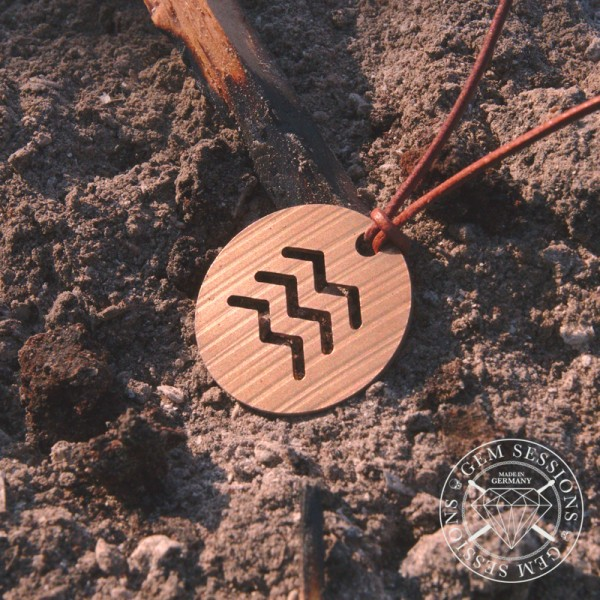 "Necklace ""FIRE"" made of drum cymbals (Four Elements 