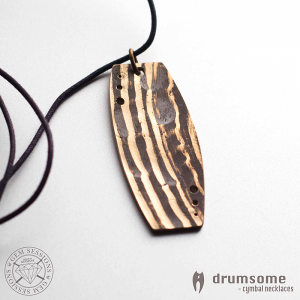 "Necklace ""SKUBO"" made of drum cymbals (Drumsome 