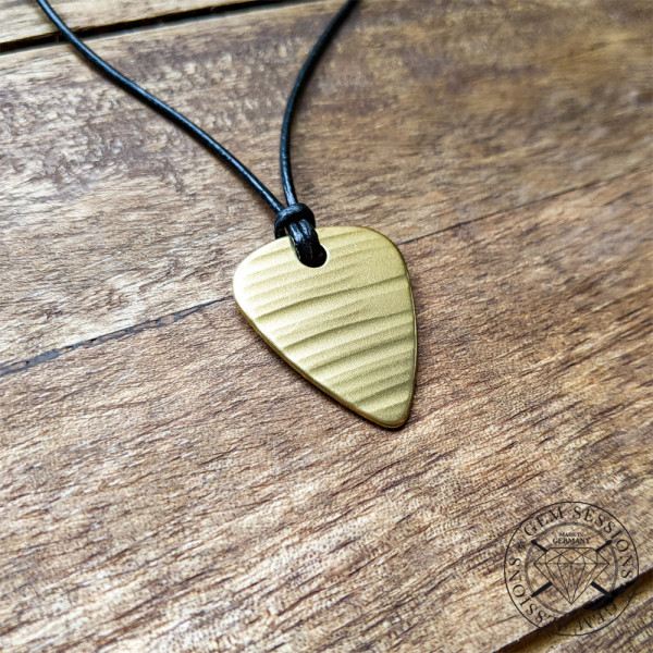 """Necklace """"PLEK"""" made of drum cymbals (Upcycling 