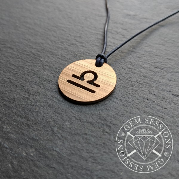 "Necklace ""LIBRA"" made of drum cymbals (Zodiac 