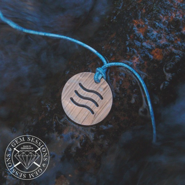 "Necklace ""WATER"" made of drum cymbals (Four Elements 